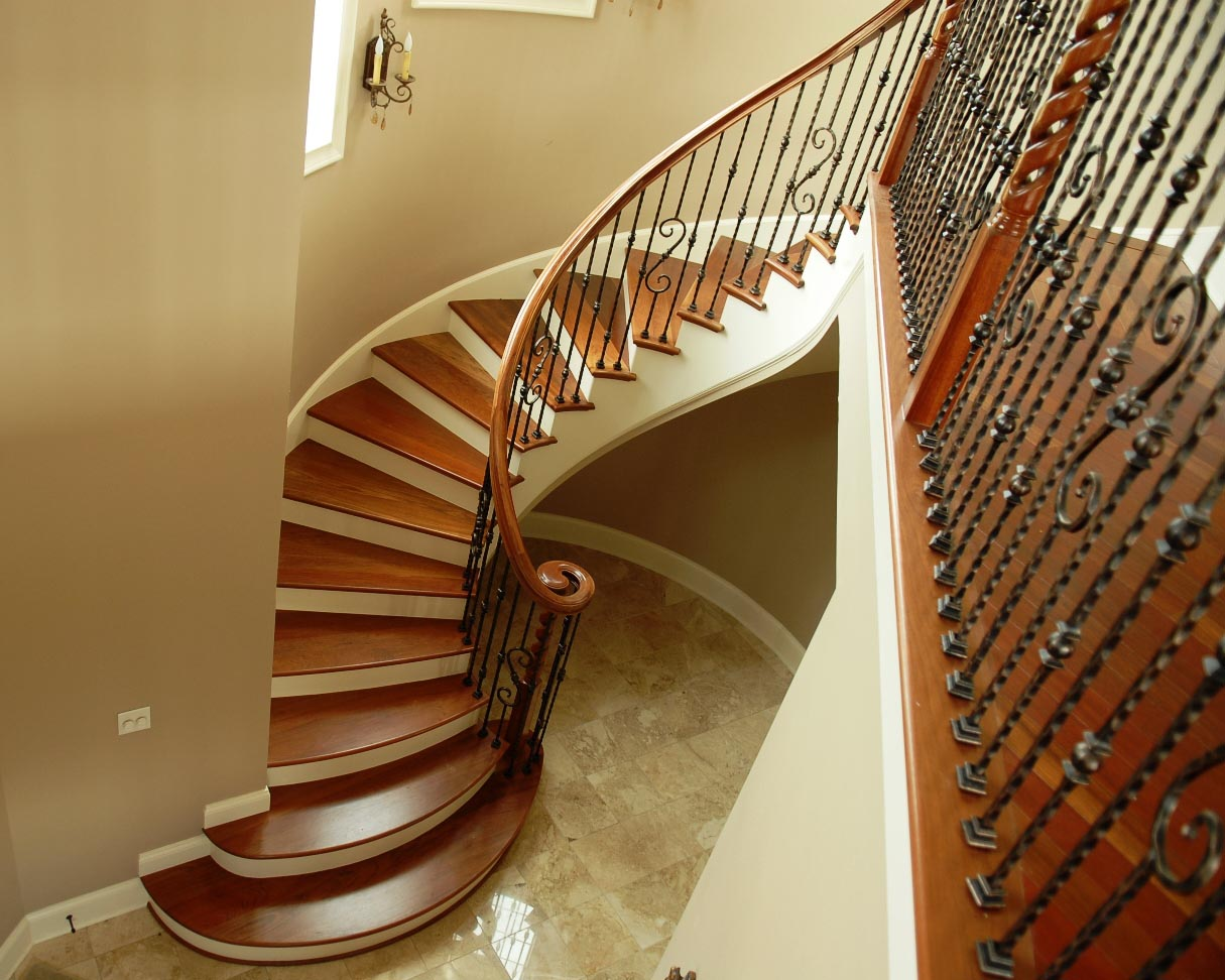 Bruce abernathy curved stair gallery for Arched staircase